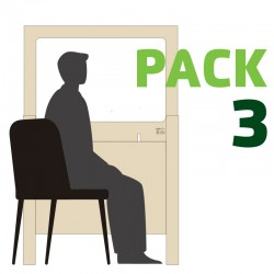 Pack 3 Mamparas 160