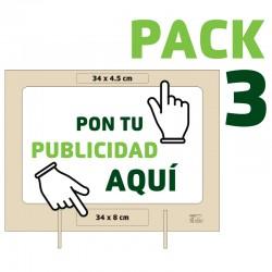 PACK 3 Mamparas Personalizadas