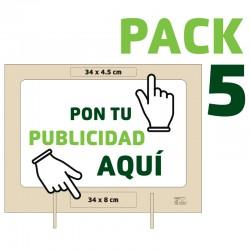 PACK 5 Mamparas Personalizadas