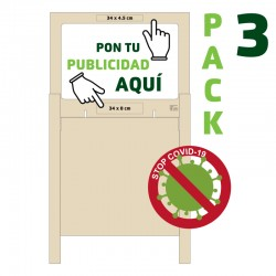 PACK 3 Mamparas Altas...